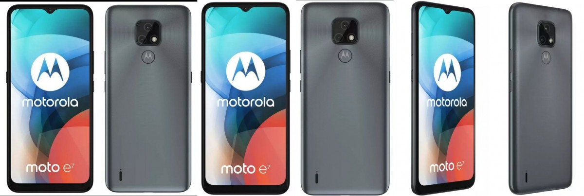 Moto E7 official-looking renders leak showing two colors