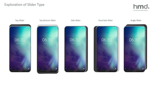 Nokia N95 prototype slider designs