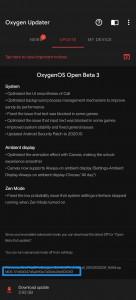 Update notification for Open Beta 3