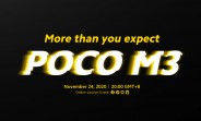 Poco M3 launching on November 24