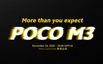 Poco M3 launching on November 24