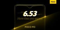 Poco M3 official details: 6.53\