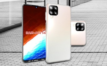 Images of cases show the Galaxy A12 5G will have a design similar to the A42 5G and M12