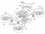 Patente de diseño de drones de Sony: diseño de cuadricóptero