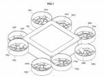 Patente de diseño de drones de Sony: diseño de octocópteros
