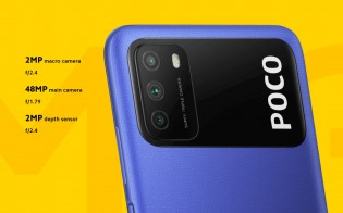 Two of Poco M3's best features are the 6,000 mAh battery and 48 MP main cam