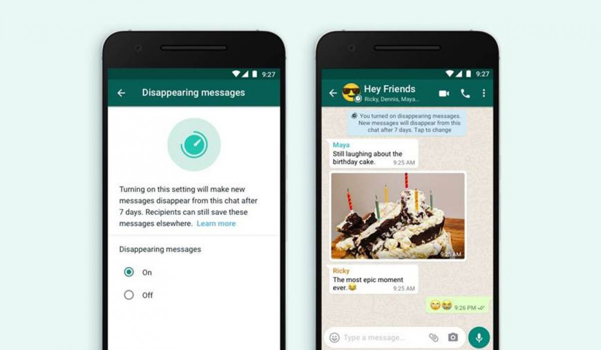 WhatsApp will now let messages disappear after 7 days