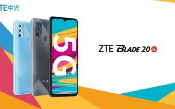 Affordable ZTE Blade 20 5G announced with Dimensity 720G chip, big screen
