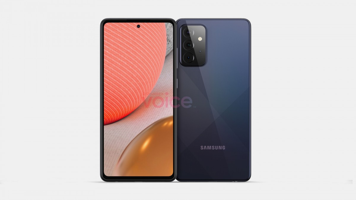 Leaked render of Galaxy A72 5G