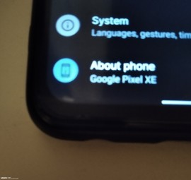 Supposedly Google Pixel XE