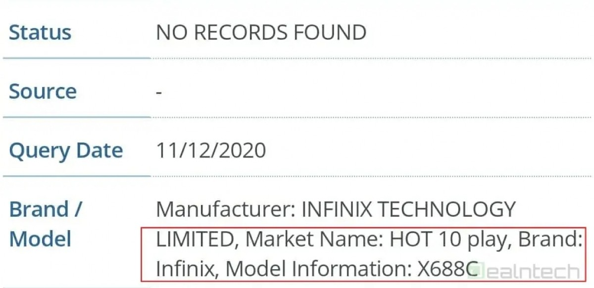 Infinix Hot 10 Play visits FCC – an even cheaper variant with dual rear cameras