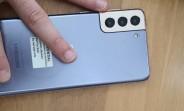Samsung Galaxy S21+ handled in the wild