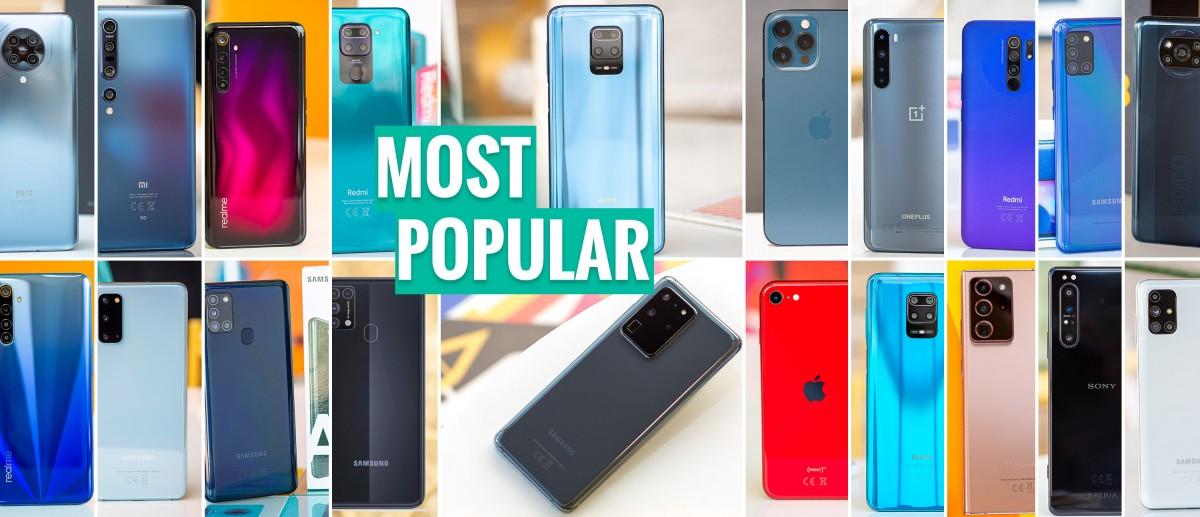 Top 20 most popular phones in 2020
