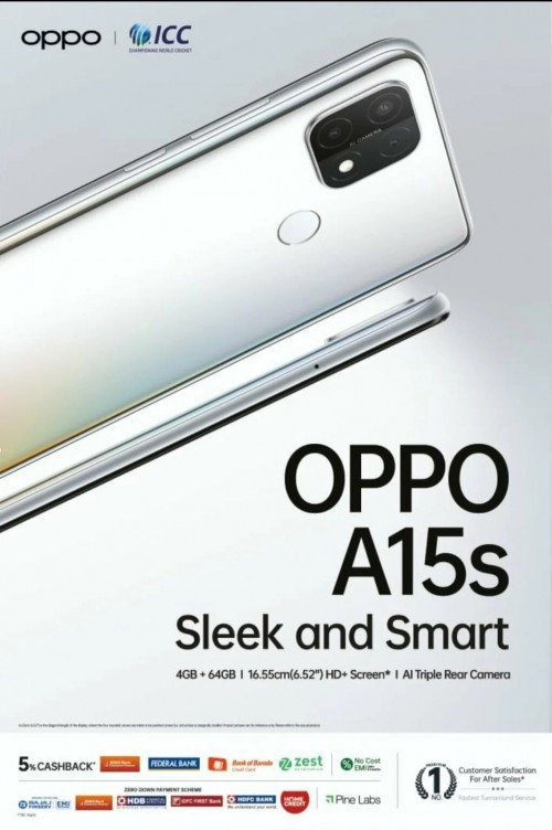 Oppo A15s banner