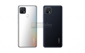 Oppo A15s leaked renders show color options, waterdrop notch