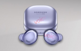 Here's the first unofficial look at the Samsung Galaxy Buds Pro, pictured in violet