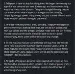 Durov's community post