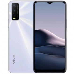 vivo Y20 (2021) in Dawn White color