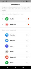 Amazfit Stratos 3 data and settings in Zepp for Android