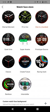 Stratos 3 comes with 11 watch faces and you can create one, too