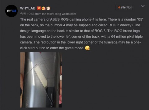 Upcoming Asus ROG Phone