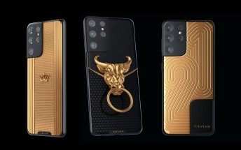 Caviar celebrates the year of the ox by putting a golden ox head on a Galaxy S21 Ultra