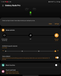 Galaxy Wearable customization options for Buds Pro