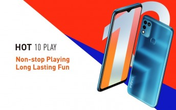 Infinix Hot 10 Play announced with Helio G25, 6.82