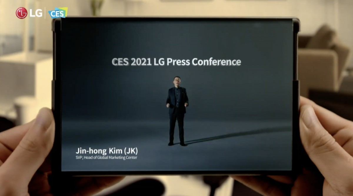 LG teases a rollable display phone at CES 2021