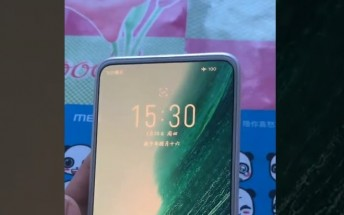 Meizu 18 appears in a hands-on video with under-display camera