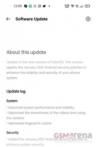 Oppo Reno5 Pro 5G software update