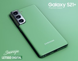 What the Samsung Galaxy S21+ in Phantom Green might look like (unofficial renders)