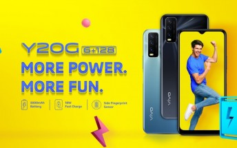 vivo Y20G announced with Helio G80, triple camera, and 5,000 mAh battery