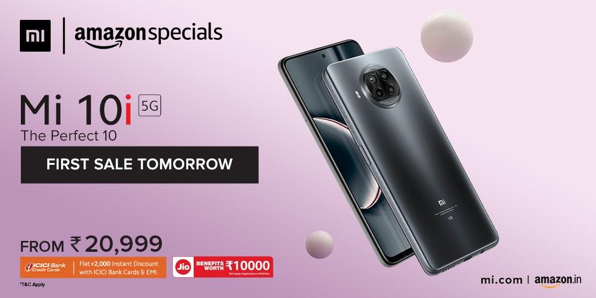 Xiaomi Mi 10i now available to Amazon Prime and Mi Reward members, general sale starts tomorrow