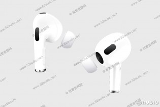 Rumored AirPods 3, image source: 52audio.com