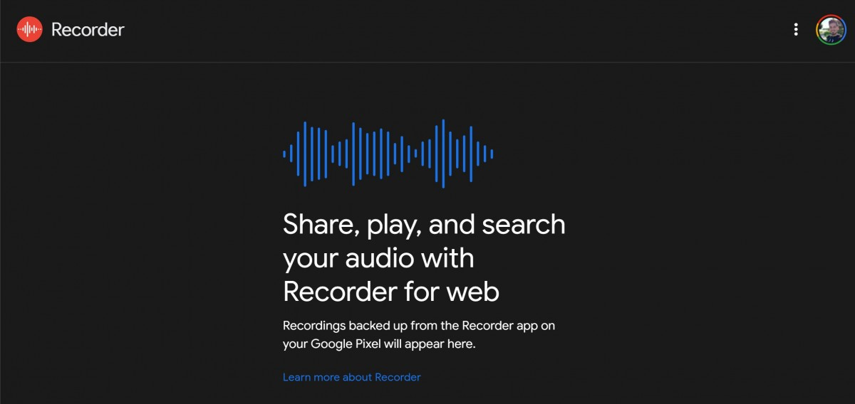 Google's voice recorder app getting desktop interface via web