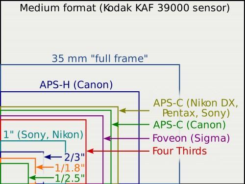 Sensor size comparison
