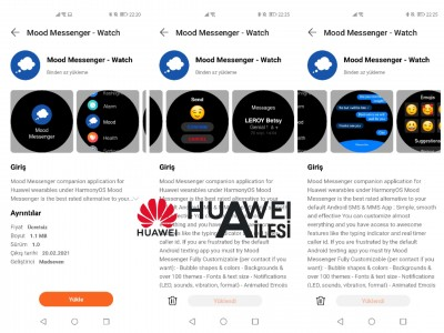 The Mood Messenger companion app for the Huawei Watch GT 2 Pro