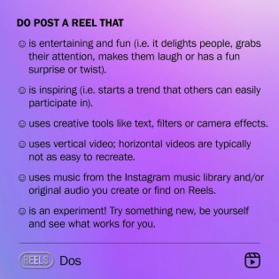Instagram Reels Dos and Dont's