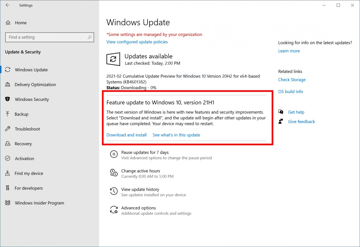 Microsoft announces its next 21H1 update for Windows 10