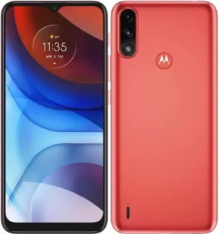 Motorola Moto E7 Power in Coral Red color