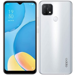 Oppo A15s in Fancy White color