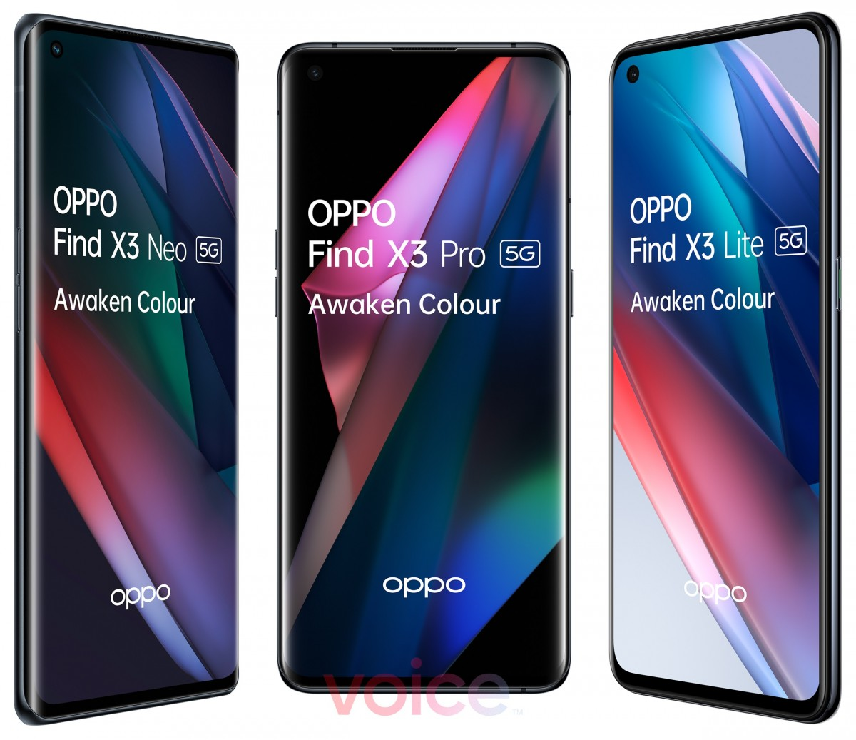 Oppo Find X3 Pro stars in official-looking images