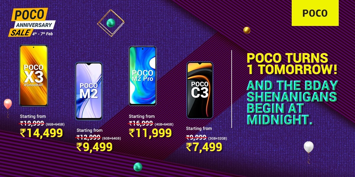 Poco discounts several phones on Flipkart, announces X-series has sold over 1 million units
