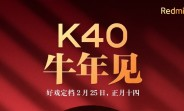 It's official: Redmi K40 will be unveiled on February 25