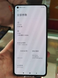 Alleged Xiaomi Mi 11 Lite appears in live images with a flat screen and triple rear camera