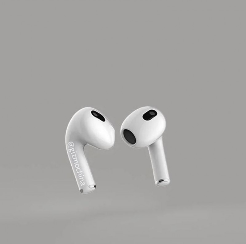 Two new renders show AirPods 3 without silicone tips