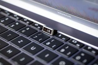 Fingerprint reader and webcam