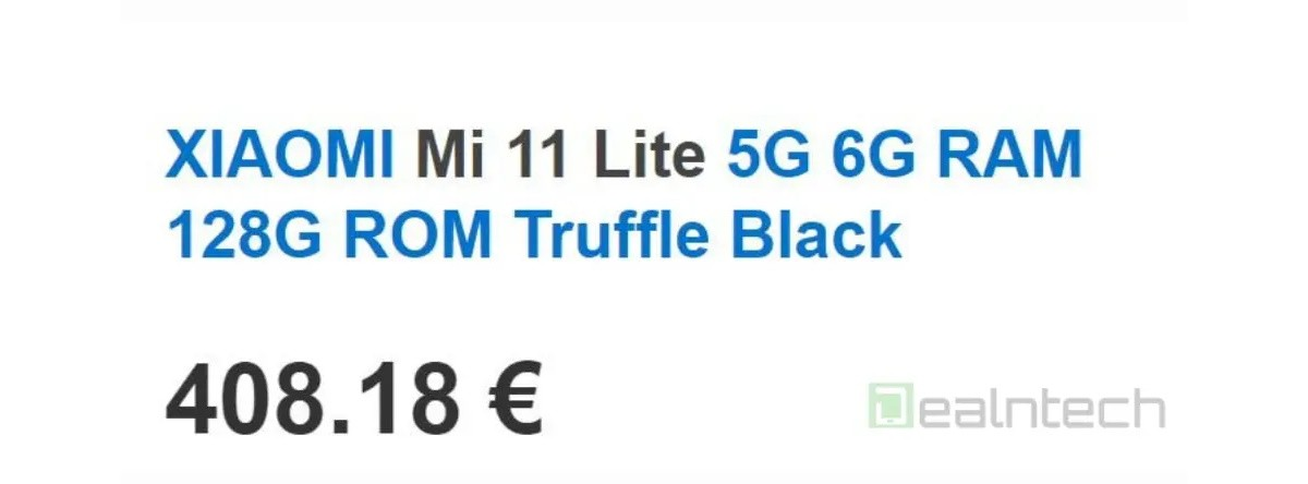 Xiaomi Mi 11 Lite 5G's price in Europe might have been outed