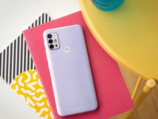 Moto G30 in Pastel Sky color